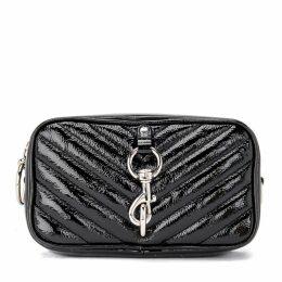 Rebecca Minkoff Carrier Camera Bag In Black Naplack