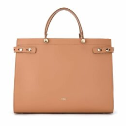 Furla Handbag Model Lady M Caramel Color