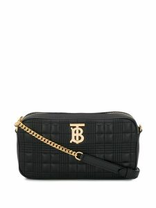 Burberry quilted check TB camera bag - Black
