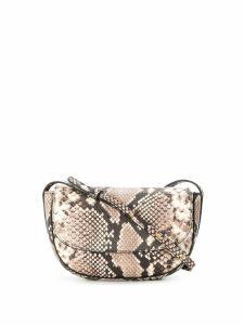 Frenzlauer mini Swing snakeskin effect bag - Brown