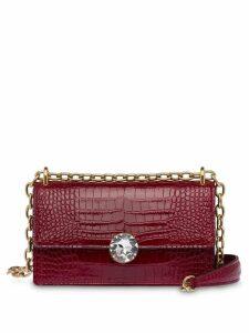 Miu Miu crocodile effect shoulder bag - Red
