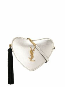 Saint Laurent monogram heart crossbody bag - Gold