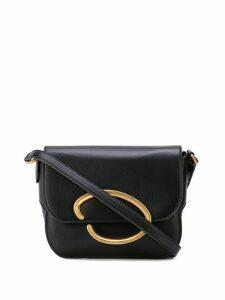 Oscar de la Renta logo plaque shoulder bag - Black