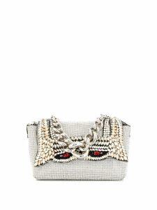 Ermanno Scervino crystal embellished mini bag - Silver