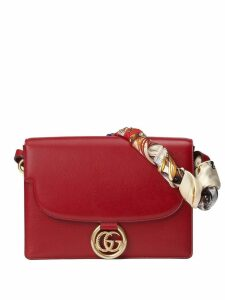 Gucci Medium leather shoulder bag with scarf - Red