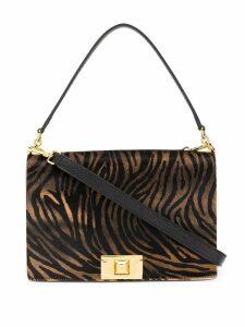 Furla animal print crossbody bag - Brown