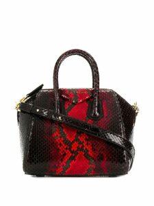Givenchy mini Antigona snake-effect tote - Red