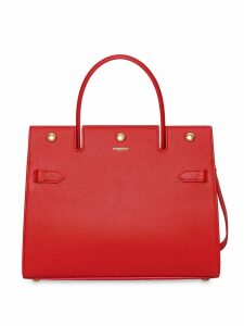 Burberry Small Leather Title Bag - Red