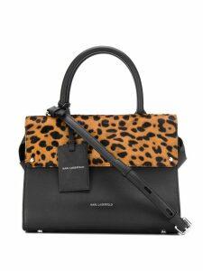 Karl Lagerfeld K/Ikon Leopard Sm tote - Black