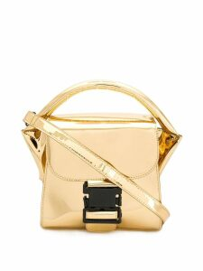 Zucca buckle-detail tote - Gold