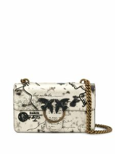 Pinko Mail print shoulder bag - Gold