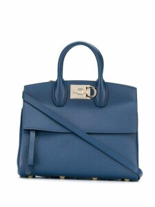 Salvatore Ferragamo Gancini flip-lock tote bag - Blue