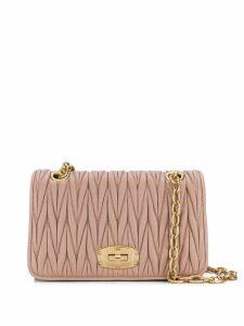 Miu Miu matelassé leather cross body bag - Pink
