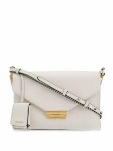 Prada foldover shoulder bag - White