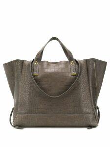 Jérôme Dreyfuss crocodile style embossed tote bag - Grey