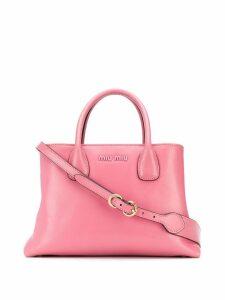 Miu Miu logo plaque tote bag - Pink