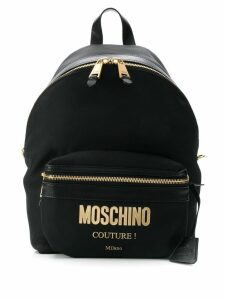 Moschino logo backpack - Black