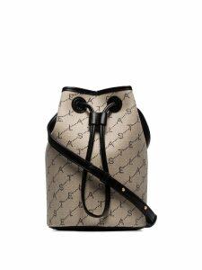 Stella McCartney mini monogram bucket bag - Neutrals