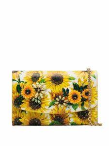Dolce & Gabbana sunflower print shoulder bag - Yellow