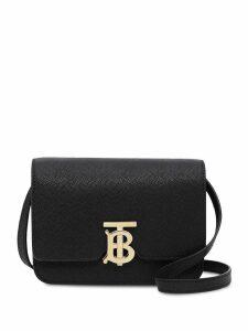Burberry Mini Grainy Leather TB Bag - Black