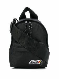 MSGM logo plaque backpack - Black