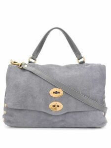 Zanellato leather stud detail tote - Grey