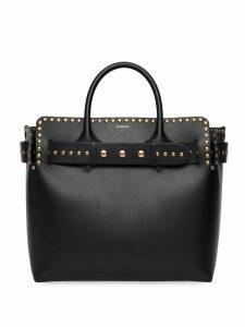 Burberry The Medium Studded Leather Triple Stud Belt Bag - Black