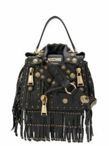Moschino Trapeze Biker shoulder bag - Black