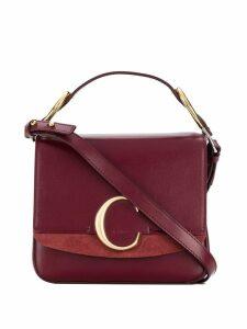 Chloé C logo tote bag - Red