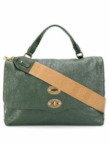 Zanellato textured tote bag - Green
