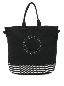 Stella McCartney logo zigzag printed tote - Black