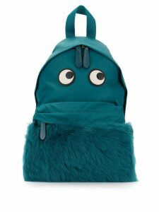 Anya Hindmarch eye shearling backpack - Blue