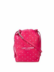 Saint Laurent teddy star pattern bucket bag - Pink