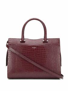 Saint Laurent uptown crocodile effect tote bag - Purple