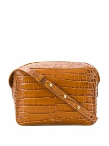 Frenzlauer Flyer crocodile effect crossbody bag - Brown