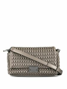 Emporio Armani quilted clutch bag - Metallic