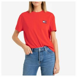 Cotton Mix Crop T-Shirt with Short Sleeves