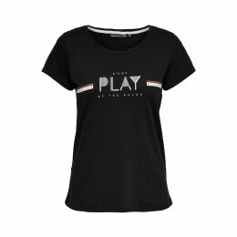 Printed Cotton T-Shirt with Round Neck