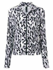 Norma Kamali leopard print sports jacket - Green