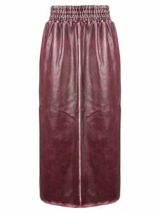 Miu Miu sports trim midi skirt - PINK