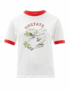 Solid & Striped - X Re/done The Upstate Cotton T Shirt - Womens - White