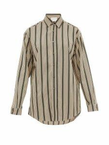 On The Island By Marios Schwab - Ransvik Striped Twill Shirt - Womens - Green Stripe