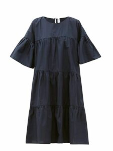Merlette - St. Germain Tiered Cotton Dress - Womens - Navy