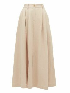 Mara Hoffman - Tulay Pleated Organic Cotton Blend Midi Skirt - Womens - Light Pink