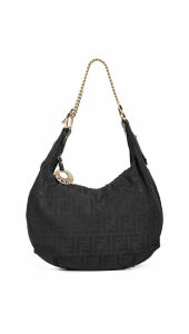 What Goes Around Comes Around Fendi Black Zucca Hobo