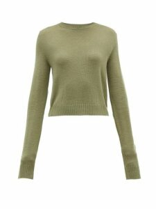 Jil Sander - Ribbed Knit Wool Sweater - Womens - Khaki