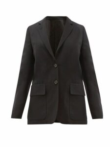 Margaret Howell - Single Breasted Wool Blend Blazer - Womens - Navy
