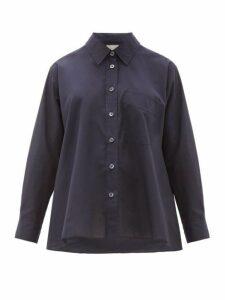 Margaret Howell - Trapeze Cotton Poplin Shirt - Womens - Navy