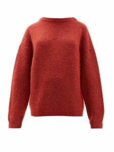 Acne Studios - Dramatic Moh Oversized Sweater - Womens - Red