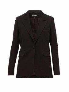 Ann Demeulemeester - Single Breasted Wool Blend Boyfriend Blazer - Womens - Black
